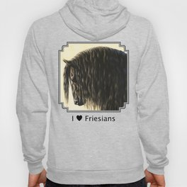 Black Friesian Draft Horse Hoody