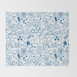 School chemical pattern #2 Throw Blanket