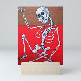 Skelton Dance Mini Art Print