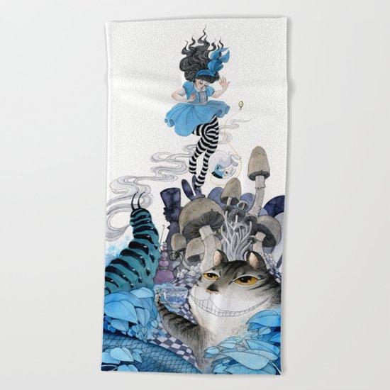 Alice in Wonderland Beach Towel