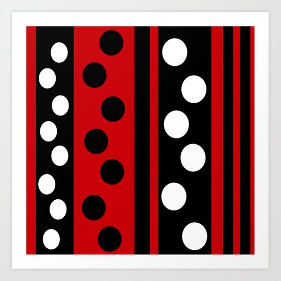 Stripes & Dots Art Print