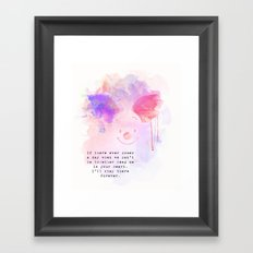 Always Forever - Piglet Framed Art Print