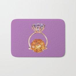 Circles on Purple Bath Mat