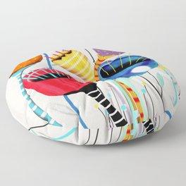 Ruth Fitta-Schulz - California Poppies Floor Pillow