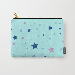 Little blue stars Carry-All Pouch