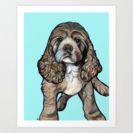 Lego the Cocker Spaniel Art Print
