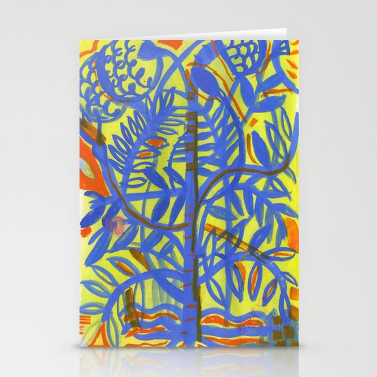 neon botanical Stationery Cards