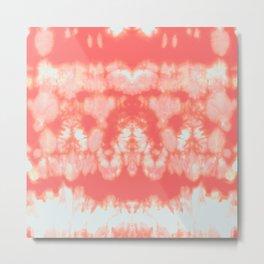 Shibori Neue Coral Metal Print