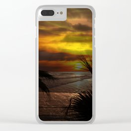 Sunset Palms ~ Pacific Ocean ~ California Clear iPhone Case