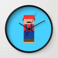 super mario Wall Clocks featuring Super Mario by Andrea Ramirez