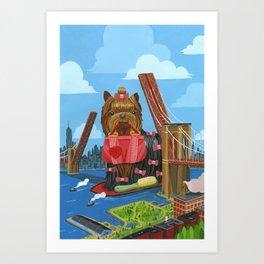 New Yorkie Art Print