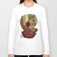 bigfoot Long Sleeve T-shirts featuring Hello Bigfoot! by Silvio Ledbetter