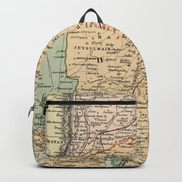 Vintage and Retro Map of India Backpack