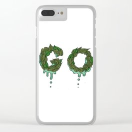 Go Leafy Clear iPhone Case