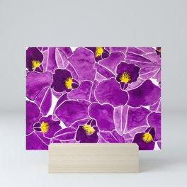 Purple orchids Mini Art Print