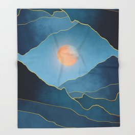 Surreal sunset 03 Throw Blanket