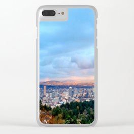 DOWNTOWN PORTLAND Clear iPhone Case