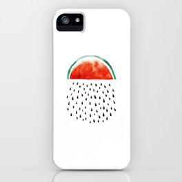 watermelon rain iPhone Case
