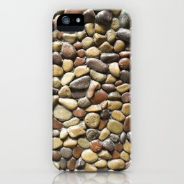 Wall pebble pattern iPhone Case