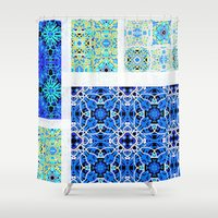 calm Shower Curtains featuring Calm by k_c_s