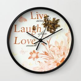 Bringing a Bit of Honey into One's Life Wall Clock