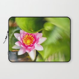 Red Water Lily Laptop Sleeve