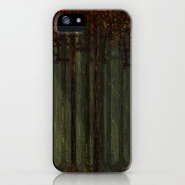 Autumn Forest - Pixel Art iPhone Case
