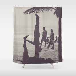 Yoga in Rio Shower Curtain