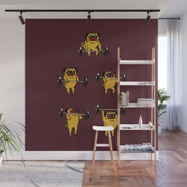 Clean and Jerks Pug Wall Mural