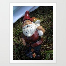 Gnome-aroo Art Print