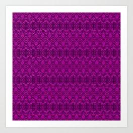 Magenta Damask Pattern Art Print