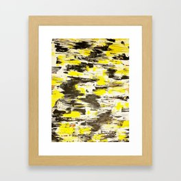 """Contemporary abstract yellow and black acrylic painting 