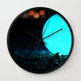 Light and Focus (Blue) Wall Clock