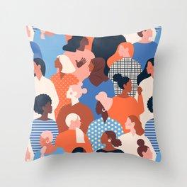 Diverse women Throw Pillow