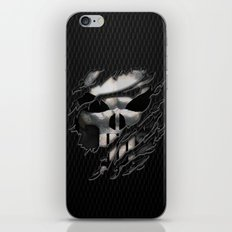 Frank Castle with chrome skull suit torn tee tshirt iPhone & iPod Skin