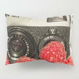 Raspberry Rollei Pillow Sham