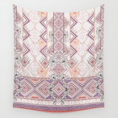 Aztec Lines Floral Wall Tapestry