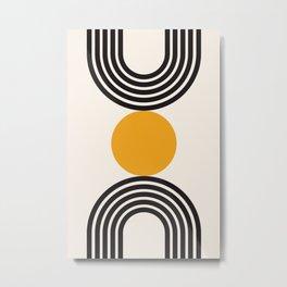 Mid century modern, mid-century wall art, print, geometric wall art, abstract wall art, interior, ma Metal Print