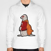 superhero Hoodies featuring meerkat SuperHero by  Steve Wade ( Swade)