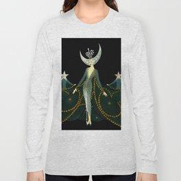 "Art Deco Design ""Queen of the Night"" Long Sleeve T-shirt"