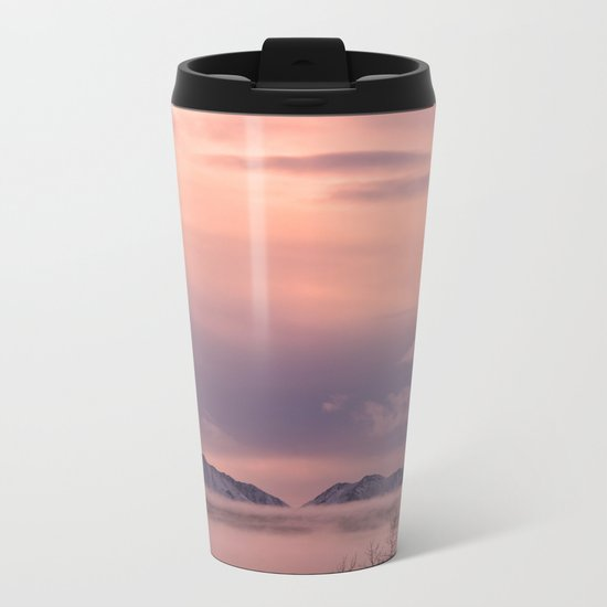 Rose Serenity Winter Fog - II Metal Travel Mug