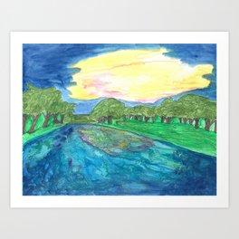 Sunset Over the Blanco Art Print