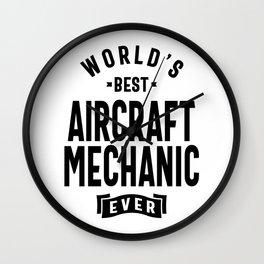 Aircraft Mechanic Shirt Job Title Gift Wall Clock