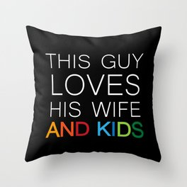 This guy inverse Throw Pillow