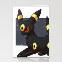umbreon Stationery Cards featuring Umbreon by Mirikun