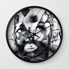 WOMAN IN BLACK WHITE Wall Clock