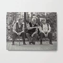 Three Old Friends Metal Print