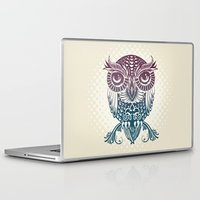 egyptian Laptop & iPad Skins featuring Baby Egyptian Owl by Rachel Caldwell