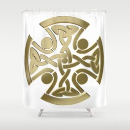 Celtic golden knot Shower Curtain