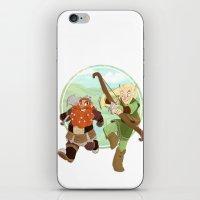 lotr iPhone & iPod Skins featuring LotR- Legolas & Gimli by Firehouselight